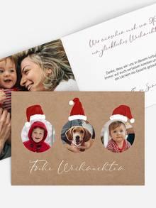 Weihnachtskarte selbst gestalten