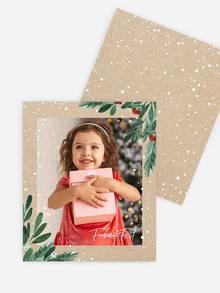 Retro Bild im Kraftpapier-Look mit Tannenzweigen
