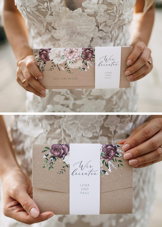 Hochzeitseinladung im Design Bohemian Summer