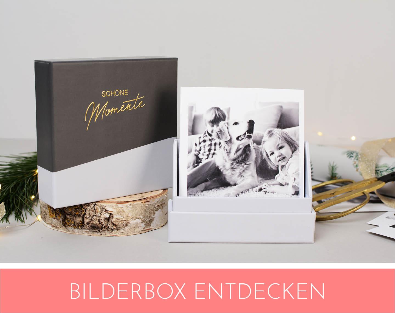 Bilderbox mit Aufsteller als Fotogeschenke Idee