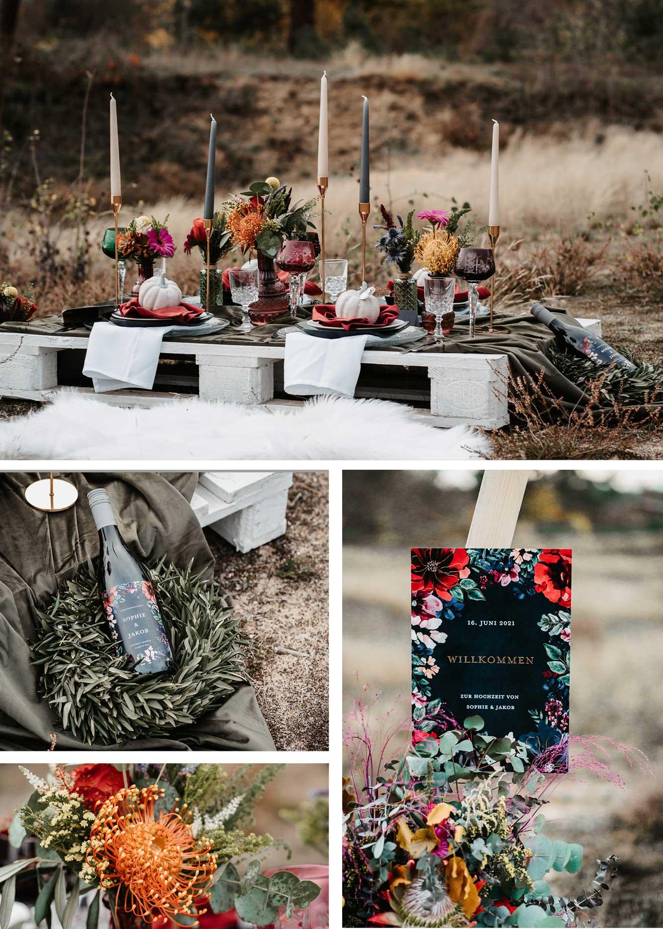 Kleine Hochzeit Picknick, Dekoration, Paletten DIY