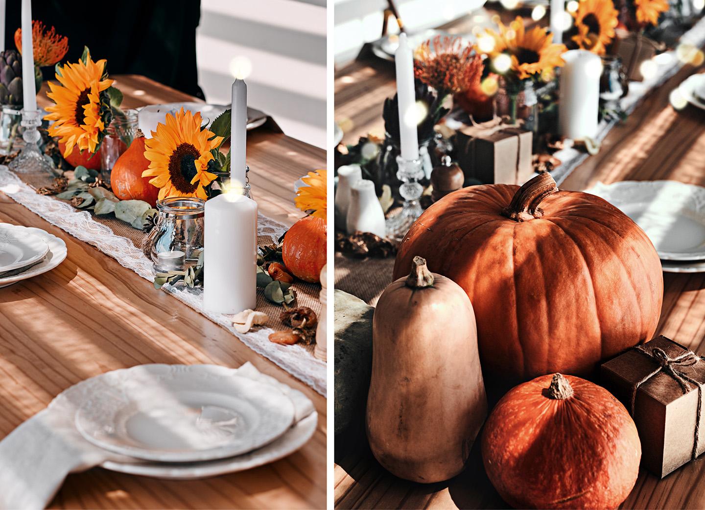 Deko Ideen zur Halloween Party mit Kürbissen im Herbst