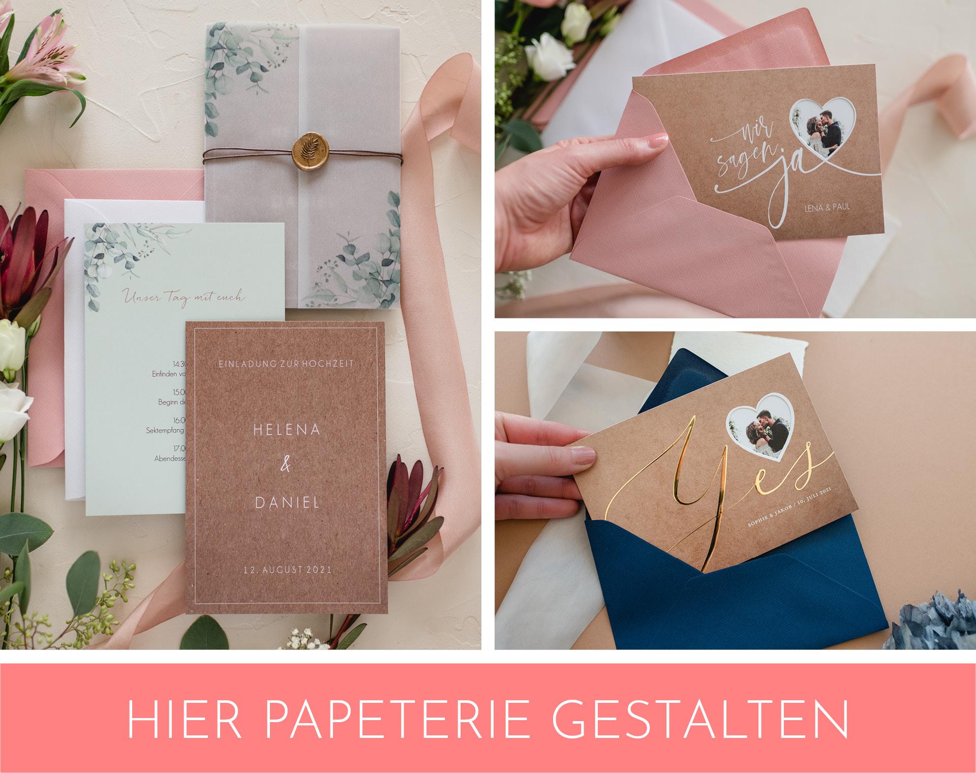 Papeterie, Hochzeitseinladung für Standesamt