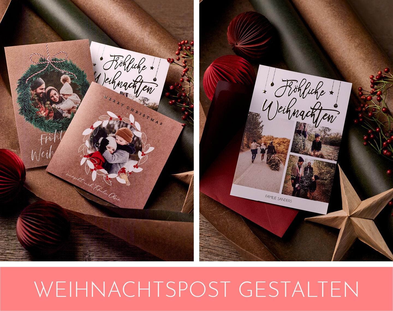 Weihnachtspost mit Fotos gestalten als Fotogeschenke Idee zu Weihnachten