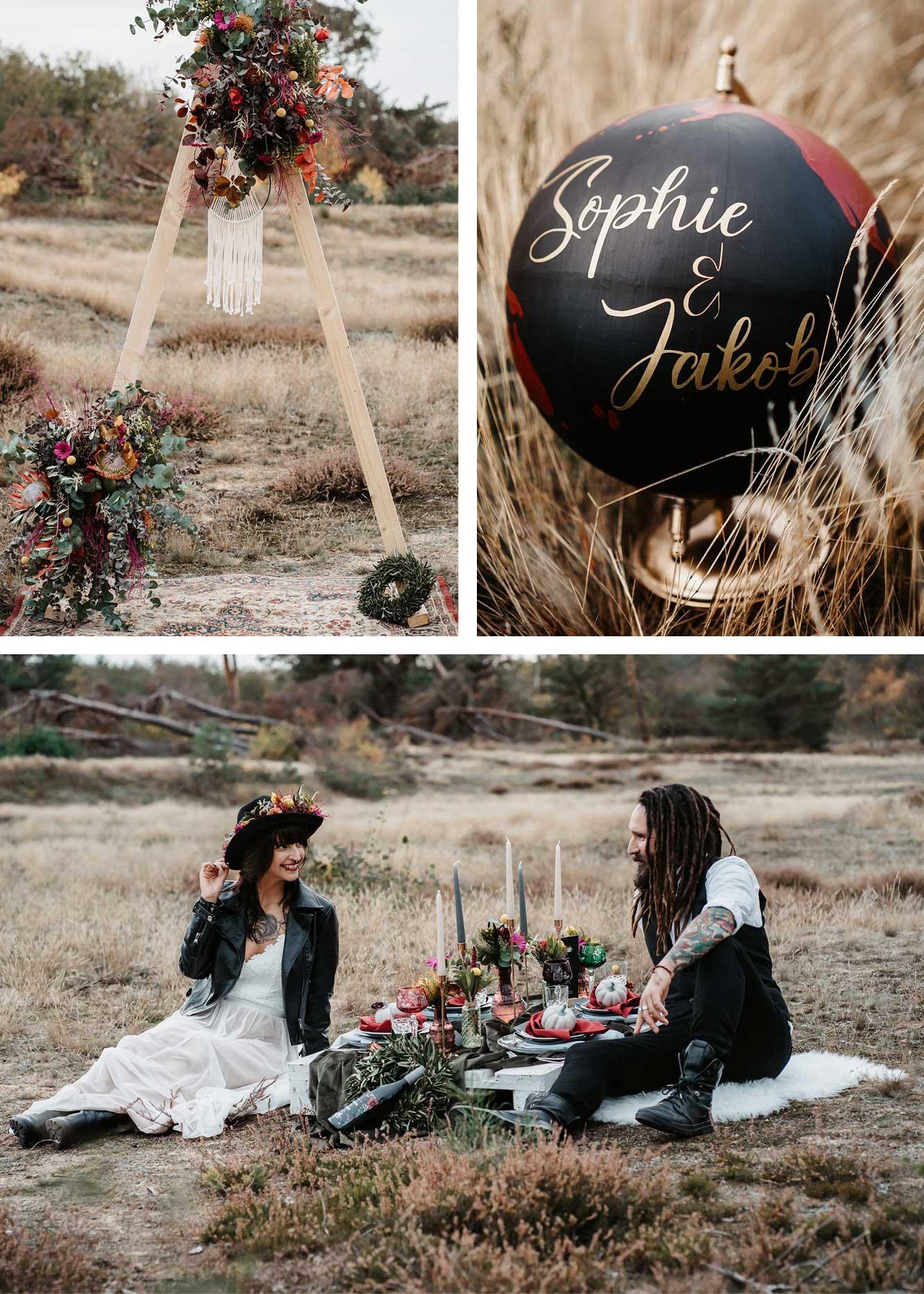 Kleine Hochzeit, Traubogen DIY