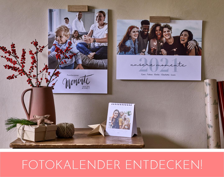 Über diesen Link Fotokalender gestalten im Shop
