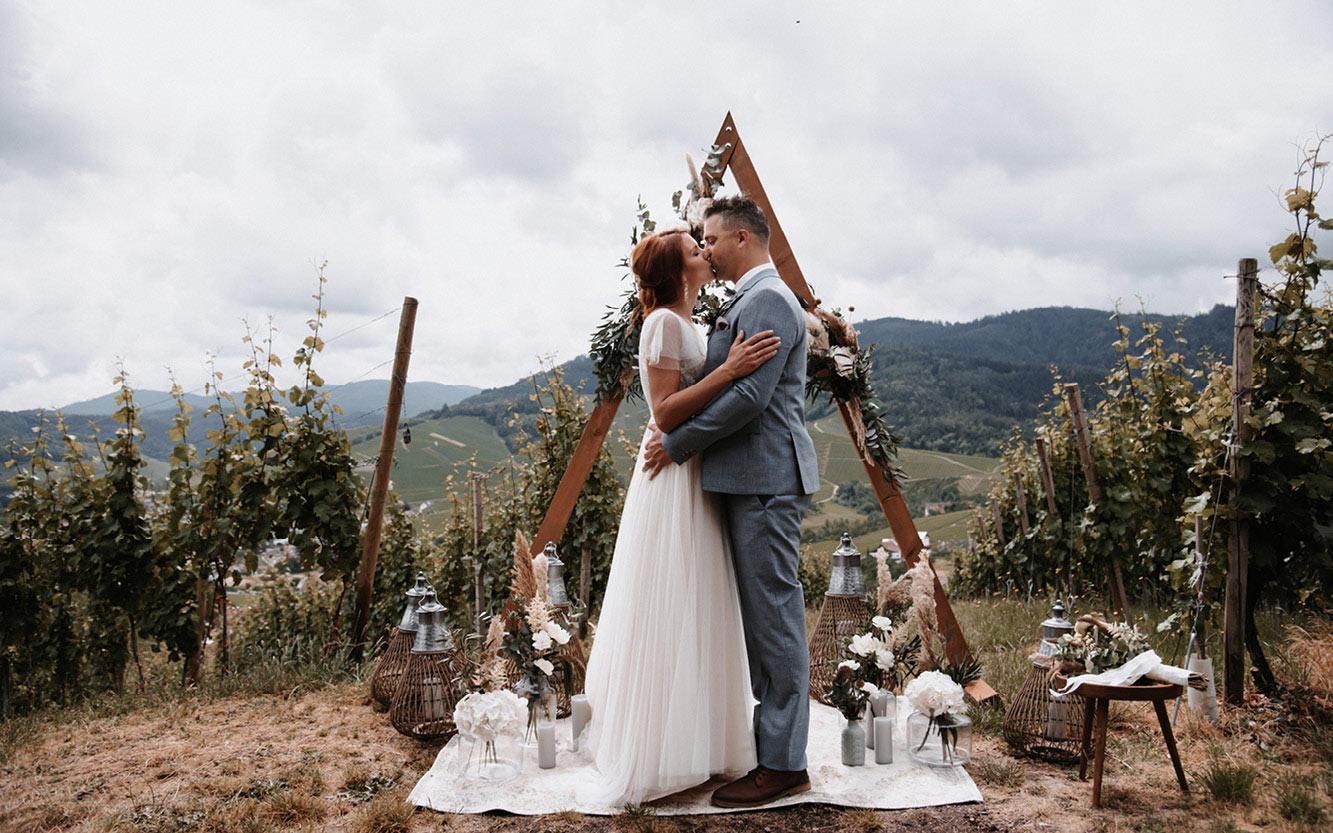 Kleine Hochzeit auf dem Berg