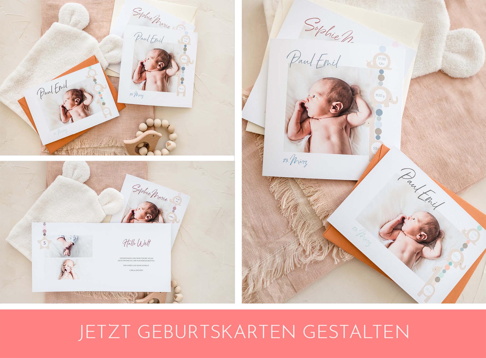 Zauberhafte Geburtskarten
