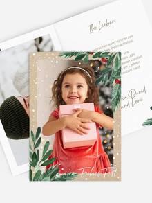 Weihnachtskarte selbstgestalten