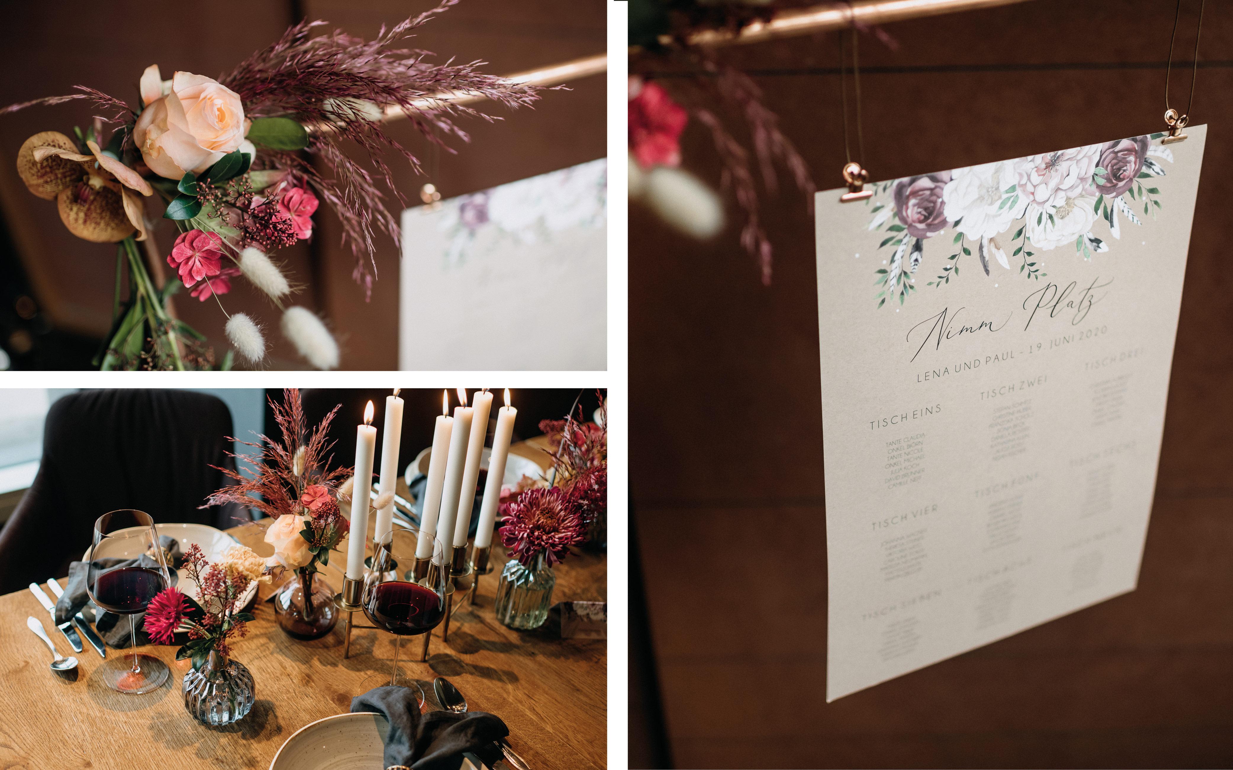 Sitzplan, Hochzeitstisch
