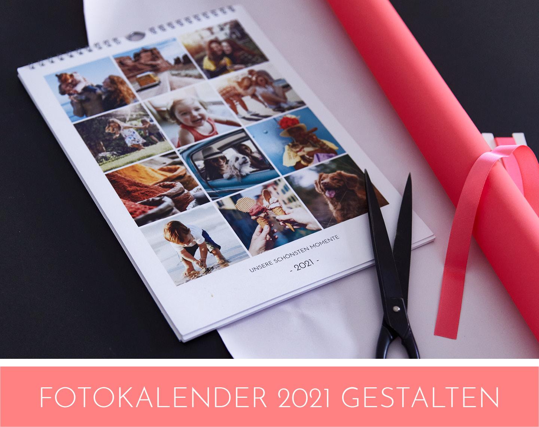 Individuelle Fotokalender als Fotogeschenke Ideen für die Familie zu Weihnachten gestalten