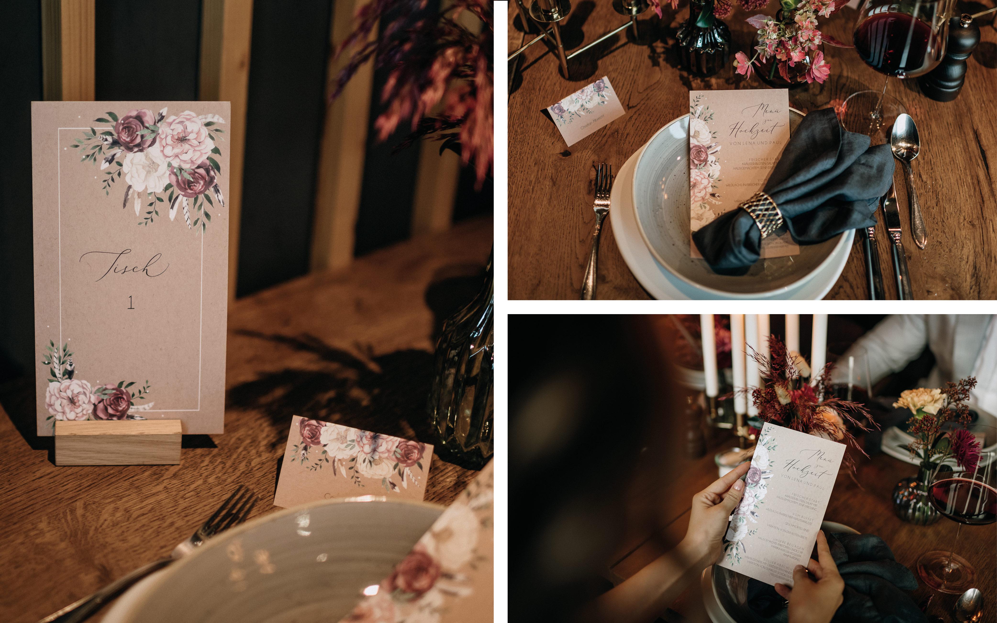 Hochzeit in der Stadt, Hochzeitstisch, Hochzeitspapeterie