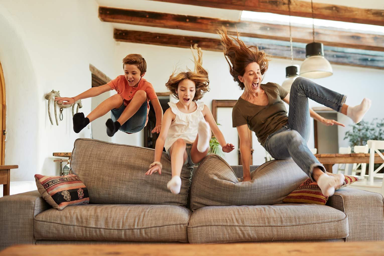 Spaß und Bewegung in Bilder mit einfließen lassen