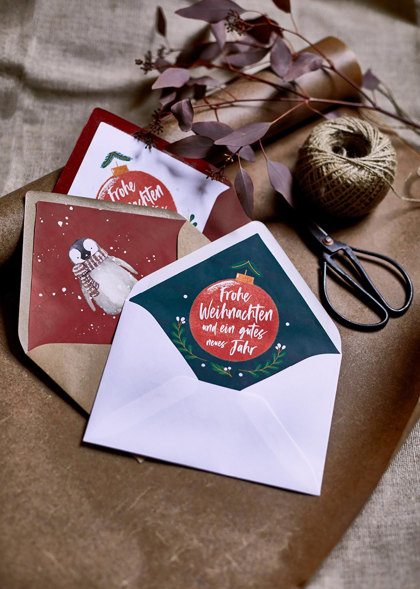 Gutscheine als Geschenk verpackt und liebevoll in Umschlägen verschenkt: Endergebnis DIY