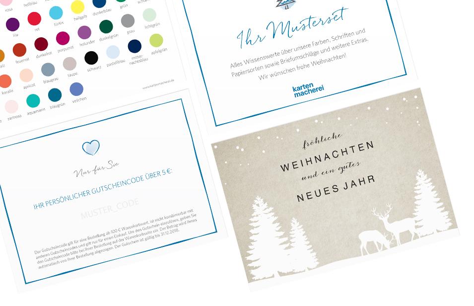 Geschäftliche Weihnachtskarten Muster